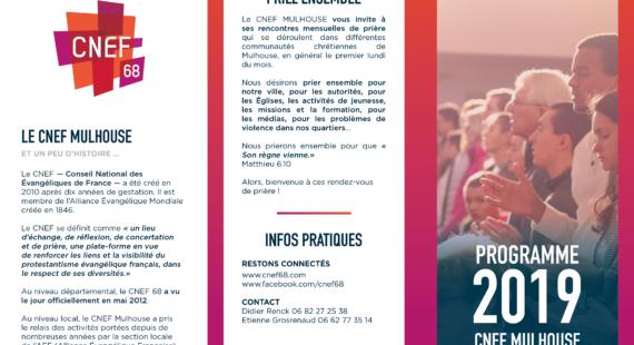 Calendrier du CNEF Mulhouse – 2019