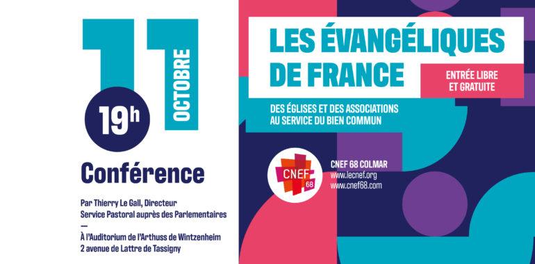 CONFERENCE SUR LES EVANGELIQUES DE FRANCE AVEC THIERRY LEGALL