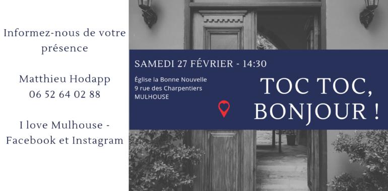 Sortie I love Mulhouse – Toc toc toc, bonjour …