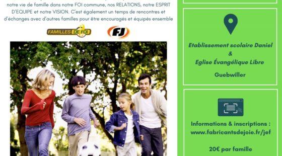 Journée d'encouragement pour les familles – la famille une équipe